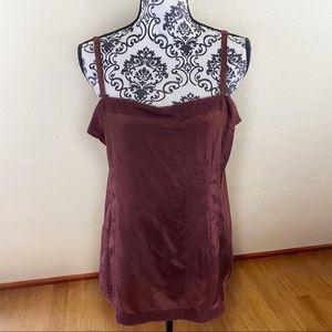 Eileen Fisher Habutai Silk Lace Cami Size L